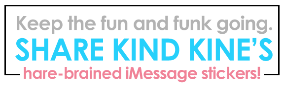 Kind Kine Share iMessage Stickers